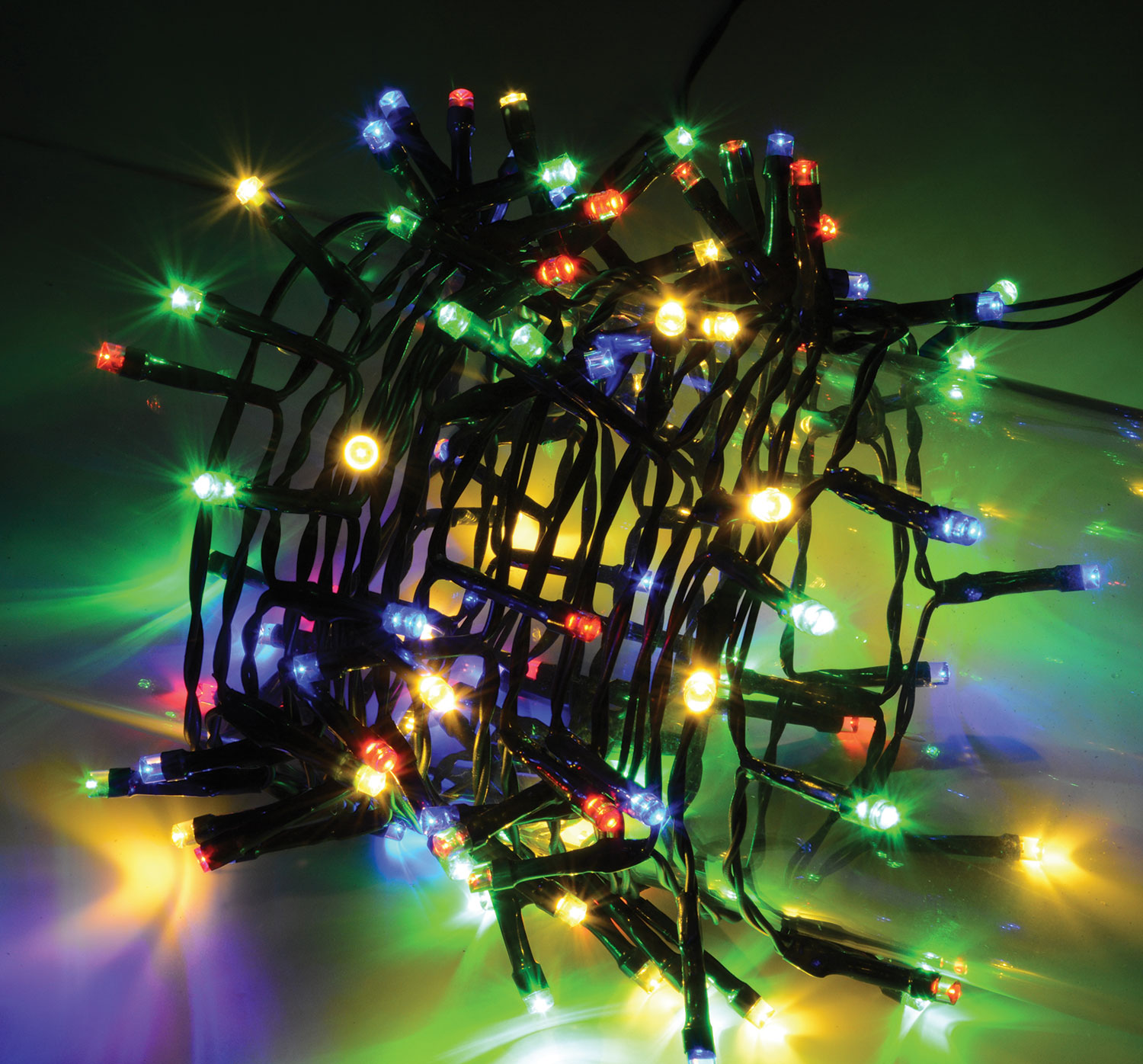 100 LED STRING LIGHTS WITH AUTO-TIMER CONTROL