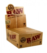 RAW King Size Slim Classic Unbleached Rolling Papers 50 (1)