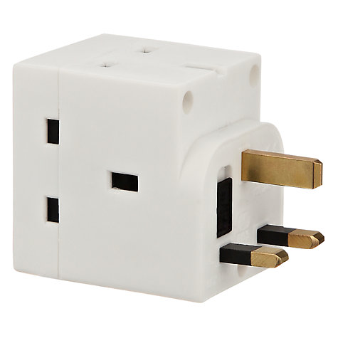 3 Way 13Amp mains Adaptor (10 in a box)