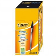 Bic Cristal Ball Pens with Medium Black Ink (Box of 50).