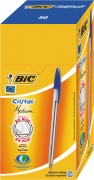 Bic Cristal Ball Pens with Medium Blue Ink (box of 50).