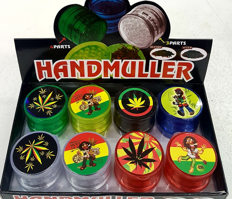 4 Part Hand muller Herb Grinder With Print(8)
