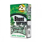 Double Platinum Blunt Wrap Green (Apple Martini)25 Packs X 2