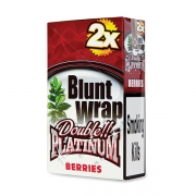 Double Platinum Blunt Wrap Silver ( Berries )(25 Packs X 2)