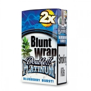 Double Platinum Blunt Wrap Blue (Blue Berry)25 Packs X 2