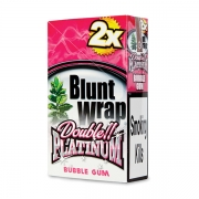 Double Platinum Blunt Wrap Pink (Bubble Gum) 25 Packs X 2