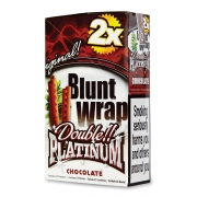 Double Platinum Blunt Wrap Brown(Chocolate) 25 Packs X 2