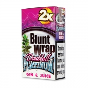 Double Platinum Blunt Wrap Coral (Gin & Juice) 25 Packs X 2