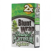 Double Platinum Blunt Wrap Emerald (Kush) 25 Packs X 2