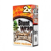 Double Platinum Blunt Wrap Amber (Peach & Passion) 25 Packs X 2
