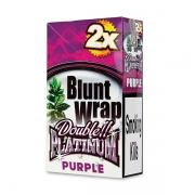 Double Platinum Blunt Wrap Purple (25 Packs X 2)