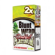 Double Platinum Blunt Wrap Red (Strawberry Kiwi) 25 Packs X 2