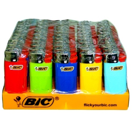 Bic Mini Disposable Flint Lighters (50)