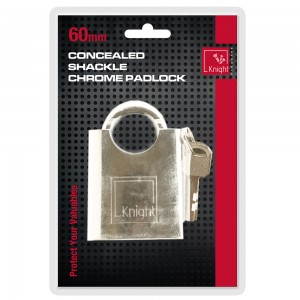 Knight 60mm Shackle Protected Pad-Lock (4 Keys)