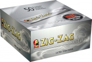 Zig - Zag King Slim Silver Rolling Papers