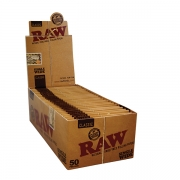 RAW Single Wide Classic Unbleached Rolling Papers 50