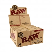 RAW King Size Slim Classic Connoisseur Slim + Tips Leaves 24 (1)