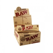 RAW King Size Slim Organic Connoisseur Slim + Tips Leaves 24 (1)