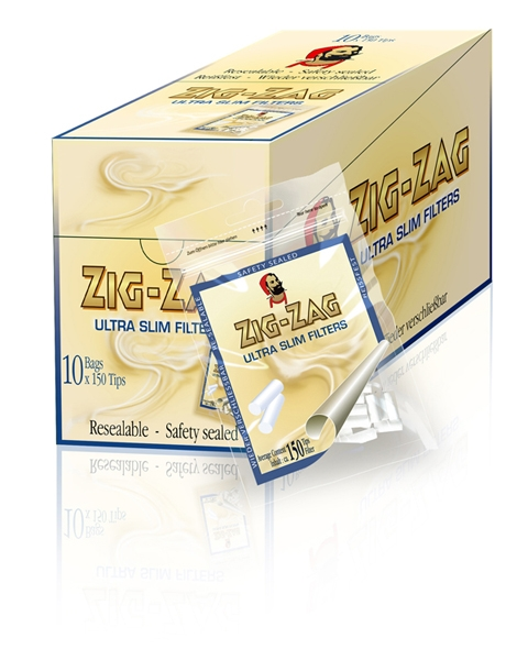 Zig - Zag Cigarette Filter Tips Ultra Slim