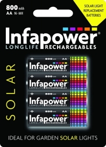 Infapower Rechargeable AA / 600mAh Solar B4 (1)