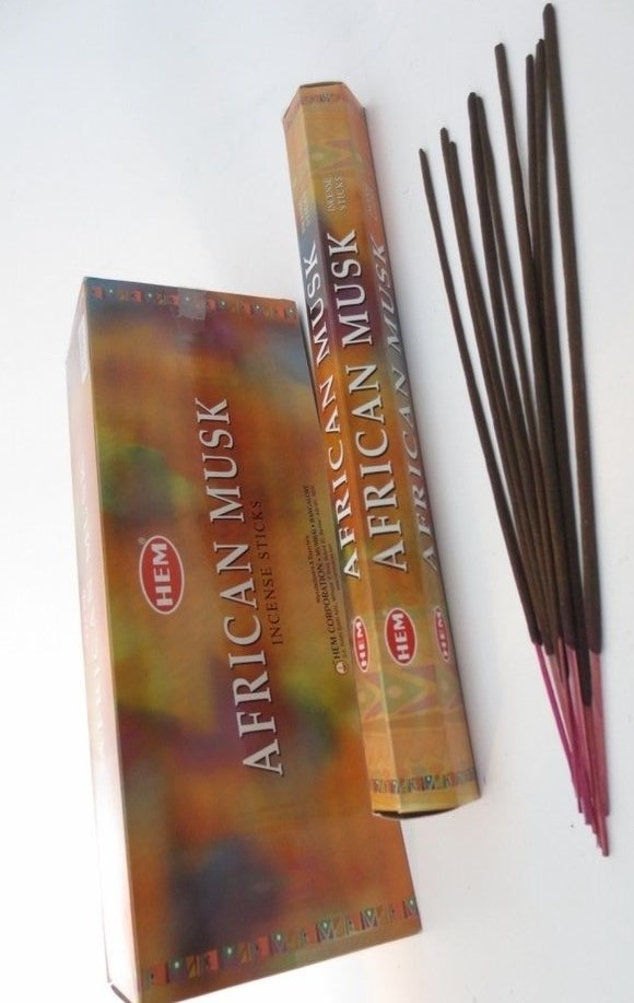 Hem AFRICAN MUSK Incense Sticks 6 PACKS OF 20 STICKS PER BOX