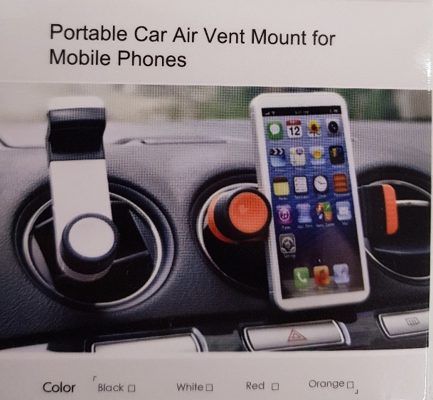 PORTABLE CAR AIR VENT MOUNT FOR MOBILE PHONES