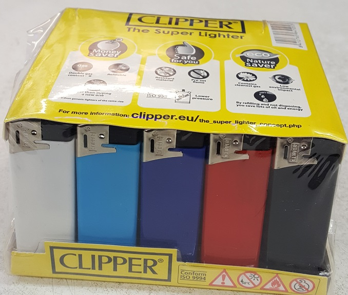 Clipper Flat Pastel Electronic Lighter 50