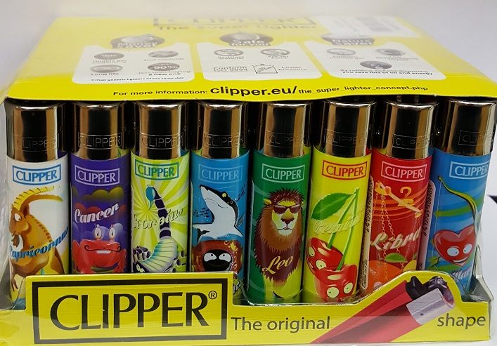 Clipper Assorted Horoscope Print Flint Lighter 40