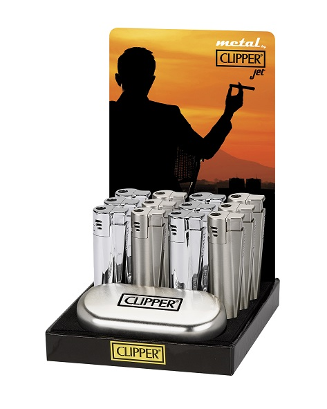 Clipper Metal Gift Shine & Matt Jet Flame Lighter (Gift Box)