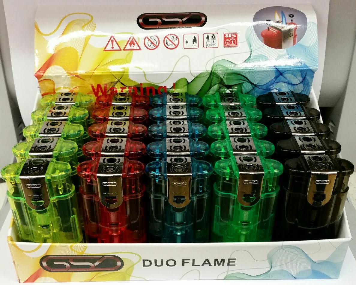 GSD DUO FLAME LIGHTER BOX OF 25