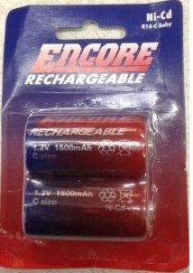 Encore NI-CD Rechargeable C / 1500mah B2 (1)
