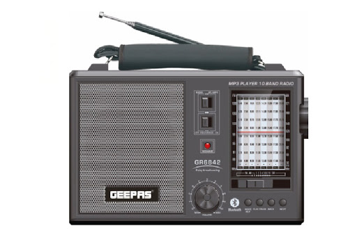 Geepas Retro Portable 10 Band Rechargeable Radio Bluetooth GR684