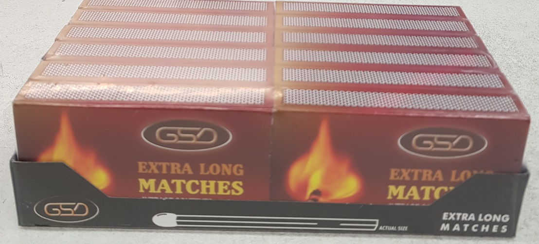 GSD EXTRA LONG MATCHES 12 IN A PACK