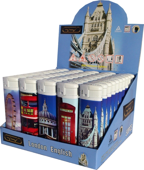 GSD London Scenes Souviner Lighters Pak. of 50
