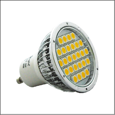 LED GU10 SMD Cool White 24LED 5W=40W (1)