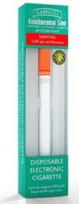 Gamucci Menthol Continental 500 Disposable Electronic Cig.
