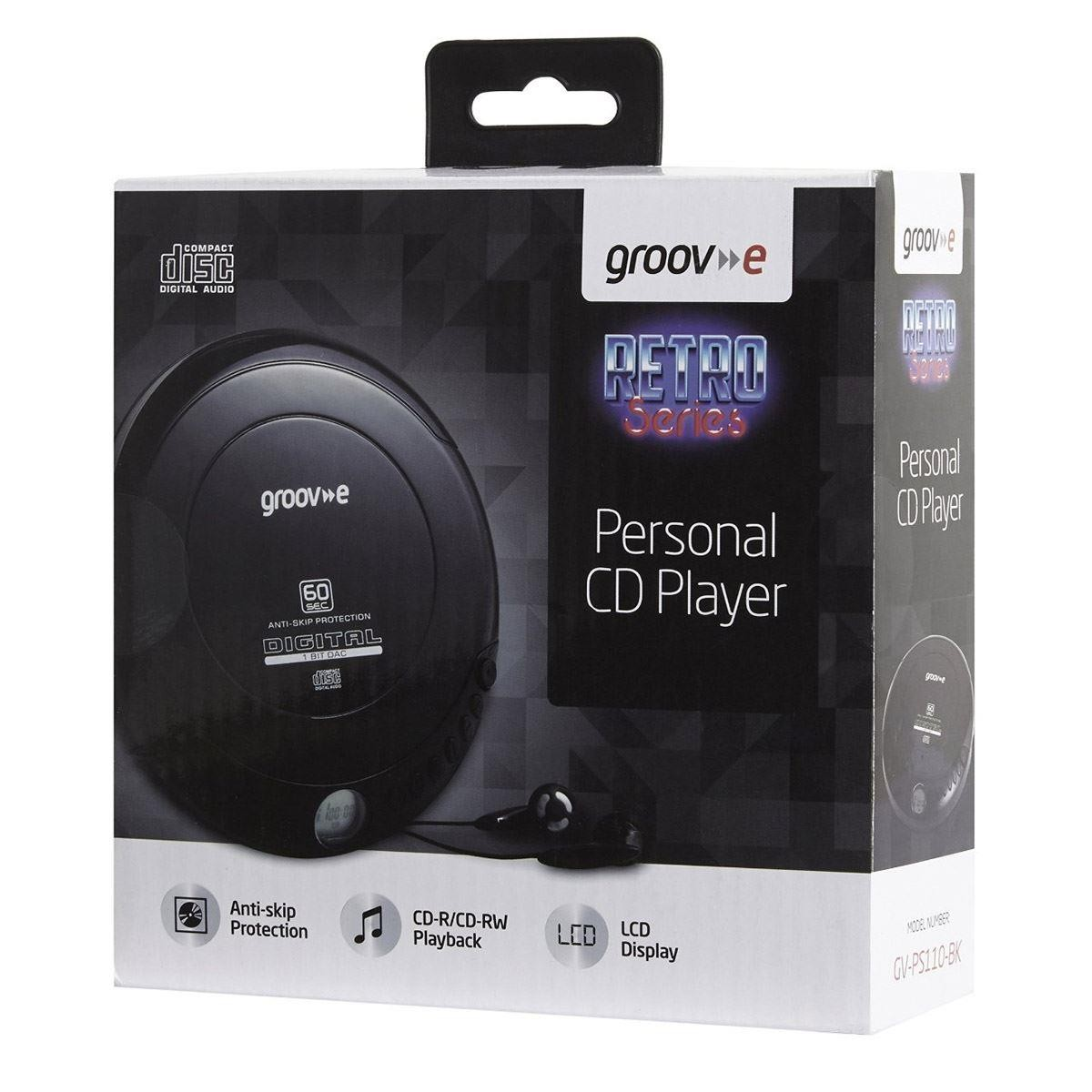 Groov-e GVPS110 Digital Retro Series Portable Personal CD Player