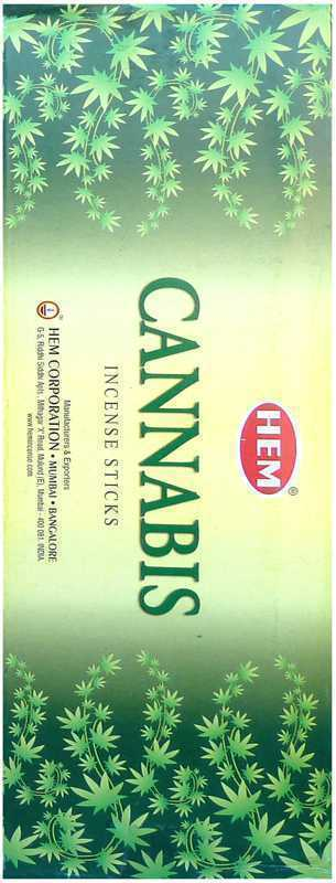 Hem CANNABIS Incense Sticks 6 PACKS OF 20 STICKS PER BOX