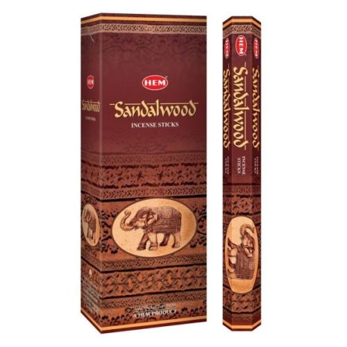 Hem SANDALWOOD Incense Sticks 6 PACKS OF 20 STICKS PER BOX