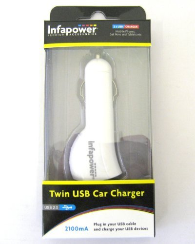 Infapower 2100mA Twin USB Ports Durable Car Charger (1)
