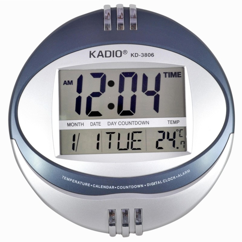 Kadio Jumbo Liquid Crystal Display Multi Function Digital Clock