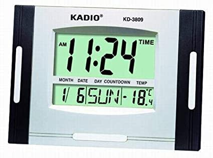 Kadio Liquid Crystal Display Multi Function Digital Clock