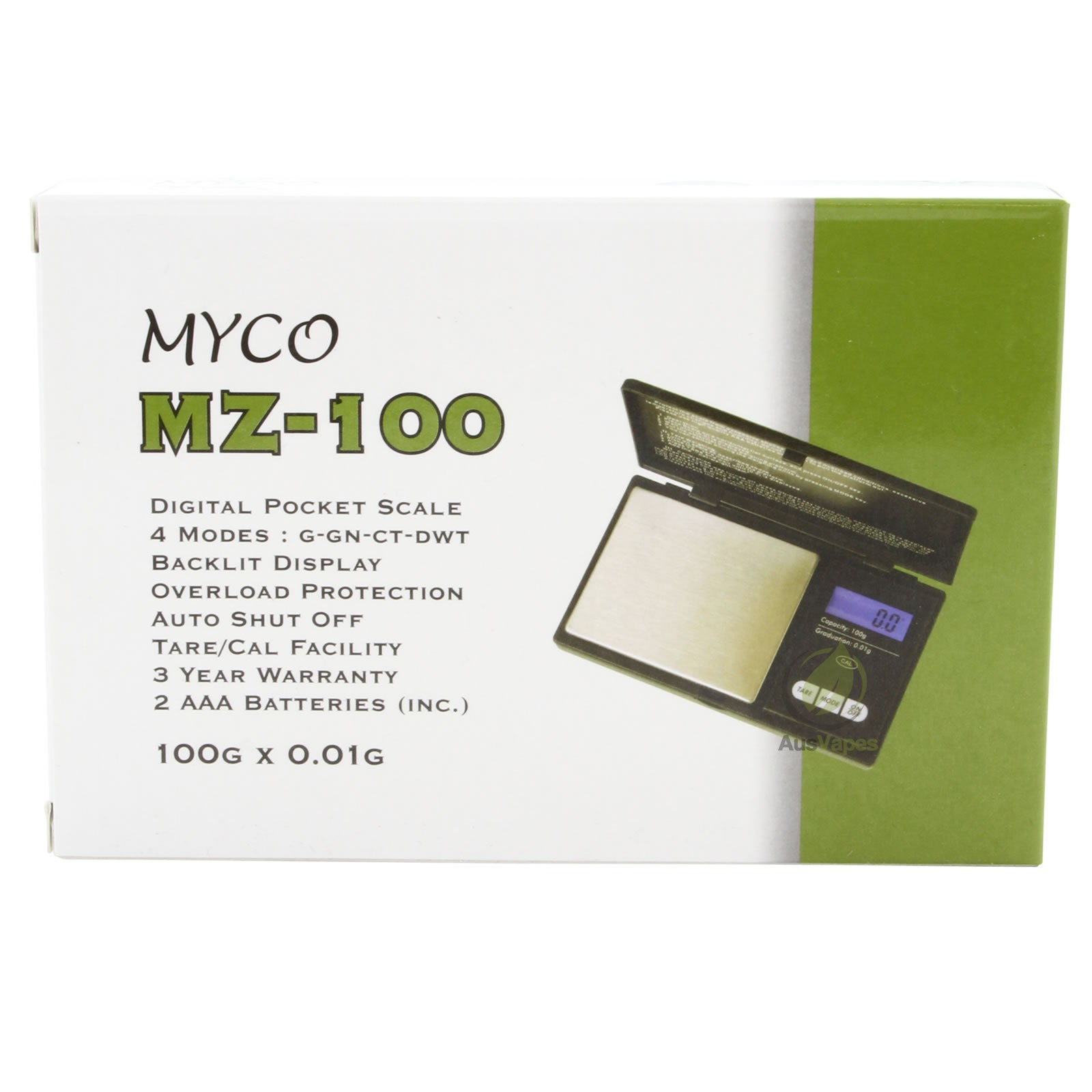 MYCO MZ-100 Digital Pocket Scale 0.01 G