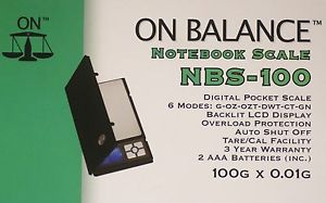 On Balance Noot Book Scale NBS200G X 0.1 G