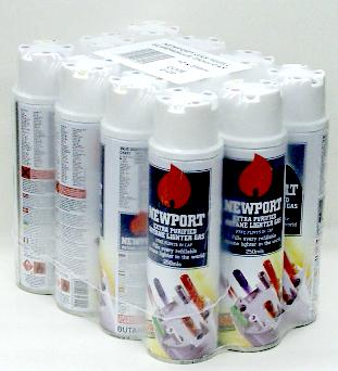 Newport Lighter Gas Refill (250 ML X 12)