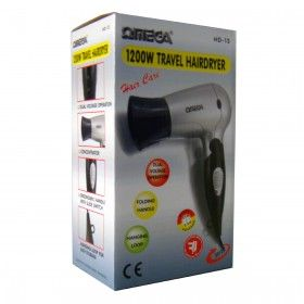 Omega Dual Voltage Foldable Travel Hairdryer HD-28 1200w(1)