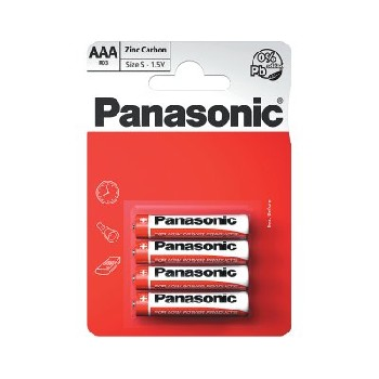 Panasonic AAA / RO3R Special Batteries B4 (12 pk of 4)