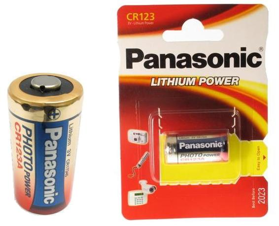 Panasonic Lithium CR123A / 3V Battery (10)