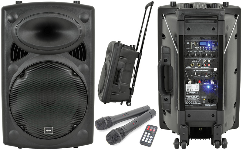 "QR-SERIES 12"" PORTABLE PA UNIT UNIT BY QTX"