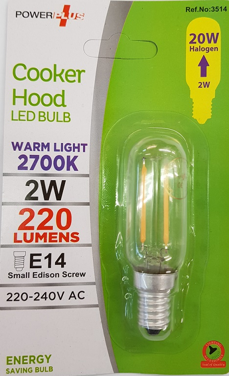 LED Cooker Hood Bulbs 2W=20W